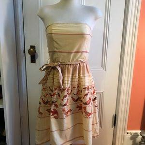 Forever 21 Strapless Bird Dress